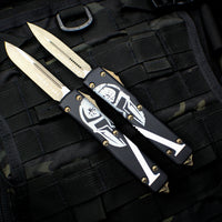 Microtech MOLON LABE Ultratech Single Edged OTF Knife Bronze Apocalyptic Blade 121-13 ML