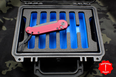 Pelican 1150 Six Knife Case Plus EDC Tray- Blue Interior