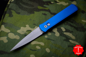 Protech Godfather Blue Out The Side (OTS) Knife and Blasted Blade 920-BLUE