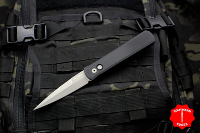 Protech Godfather Black Out The Side (OTS) Knife and Blasted Blade 920