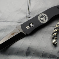 Protech Emerson CQC7 Tanto Out The Side Auto (OTS) Black Handle Punisher Logo E7T3-PUNISHER