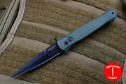 Protech Don Out The Side Dark Green Handle Black Blade