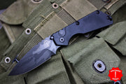 Strider SnG Auto OTS Black Body Shark Skin DLC Blade 2407-SS