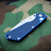 Strider SnG Auto OTS Black/Blue G-10 Top Handle Stonewash Sigle Edge Blade 2434