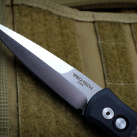 Protech Godfather Black Out The Side (OTS) Knife Carbon Fiber Inlay and Satin Blade 901