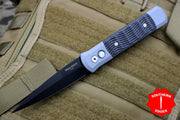 Protech Godfather Gray W/ Textured Black G-10 Inlay Out The Side (OTS) Knife Black Blade 927-BT