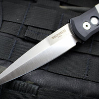 Protech Godfather Black And Ivory Micarta Tuxedo Out The Side (OTS) Knife Satin Blade 951