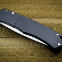 "Protech Magic ""Whiskers"" Out The Side (OTS) Auto Hidden Bolster Release Knife Smooth Black Body Stonewash Blade BR-1.1"