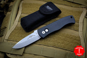 "Protech Emerson CQC7 ""A"" Spearpoint Out The Side Auto (OTS) Black Handle Stonewash Blade E7A1"