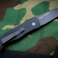 Protech Emerson CQC7 Tanto Out The Side Auto (OTS) Camo G-10 Top Chisel Ground Black Two-Tone Blade E7T37