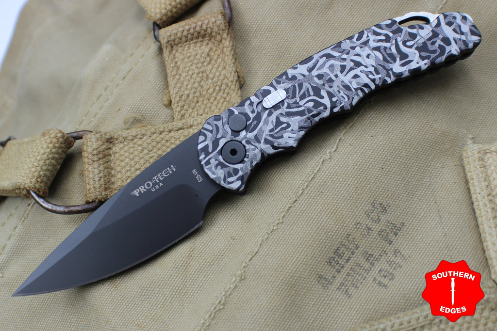 Protech Tactical Response 5 Limited Winter Camo Auto Black Blade T503-WINTER CAMO