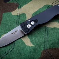 Protech Tactical Response 2 Black Body Satin Blade Out The Side (OTS) Auto Knife TR-2.3 SATIN