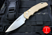 Protech Tactical Response 4 Desert Sand Handle Tan Saber Grind Blade Auto Knife TR-4.1 DS