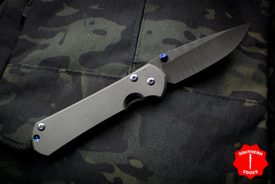 Chris Reeve LEFT HANDED Large Sebenza 31 Ladder Damascus Drop Point L31-1005