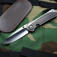 Chris Reeve Large Sebenza 31 Macassar Ebony Wood Inlay Drop Point Blade L31-1116