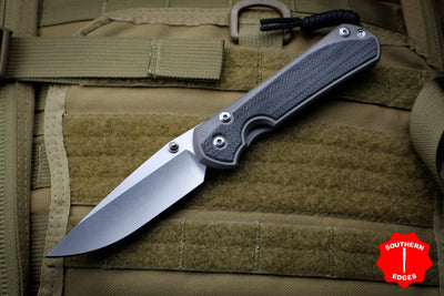 Chris Reeve Large Sebenza 31 Black Micarta Inlay Drop Point Blade L31-1200