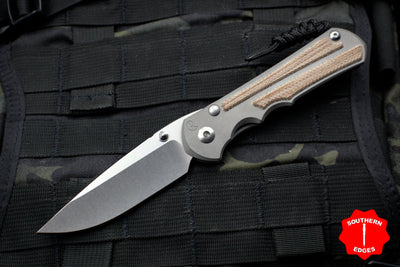 Chris Reeve Large Inkosi with Natural Micarta Inlays, Drop Point LIN-1014