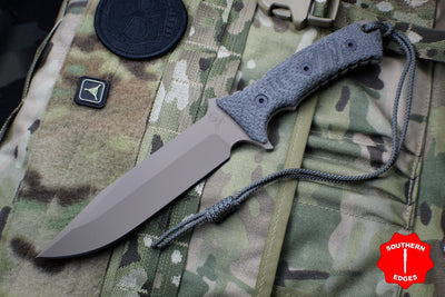 Chris Reeve Pacific Fixed Blade Non-Serrated FDE with Canvas Micarta Handle PAC-1004