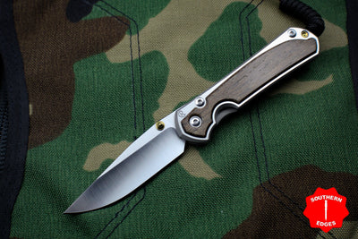 Chris Reeve Small Sebenza 31 Bog Oak Inlay Drop Point Blade S31-1100