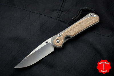 Chris Reeve Small Sebenza 31 Natural Micarta Inlay Drop Point Blade S31-1212