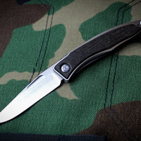 Chris Reeve Small Mnandi Model Bog Oak Inlay Plain Drop Point MNA-1000