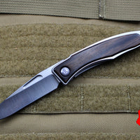Chris Reeve Small Mnandi Model Ebony Wood Plain Drop Point MNA-1010