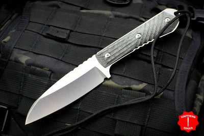 Chris Reeve Nyala Insingo Edge Fixed Blade with Black Canvas Micarta Handle NYA-1003