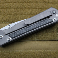 Chris Reeve Large Sebenza 21 Black Canvas Micarta Inlay Drop Point L21-1144