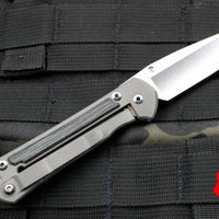 Chris Reeve Small Sebenza 21 Black Micarta Canvas Drop Point Edge S21-1144