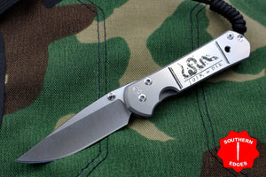 "Chris Reeve Small Sebenza 21 ""Join or Die"" Graphic Drop Point S21-1248"
