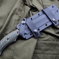 RMJ Tactical Dirty Olive Green Combat Africa Fixed Blade Combat Knife