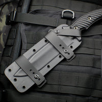 RMJ Tactical Graphite Black Combat Africa Fixed Blade Knife