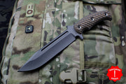 RMJ Tactical Hyena Brown Combat Africa Fixed Blade Combat Knife