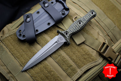 RMJ Raider Dagger Fixed Blade Combat Knife - Dirty Olive Green