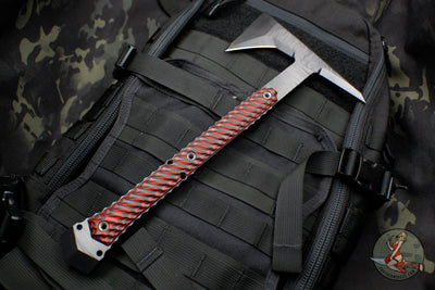 RMJ Tactical Ragnarok 14 Tomahawk Black Textured with Black Widow G-10 Handle 14