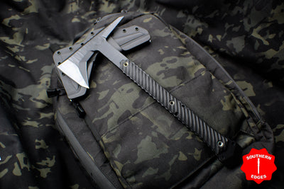 RMJ Tactical Ragnarok 14 Tomahawk Textured Black Out Handle 14