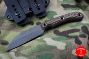 RMJ Coho Small EDC Knife Hyena Brown G-10 Handle