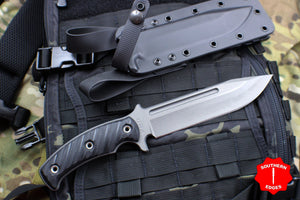 RMJ Tactical Black Combat Africa Fixed Blade Combat Knife