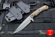 RMJ Tactical Sparrow small EDC Knife Brown G-10 Handle