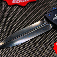 Marfione Custom Combat Troodon Black D/E Blued Damascus Blade and pocket clip 342-MCK BLDA