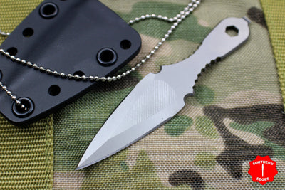 Spartan Blades Velos Fixed Blade Neck Knife Bead Blast Blade with Black Sheath
