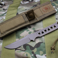 Spartan Blades Formido Fixed Blade FDE and Tan Molle Sheath