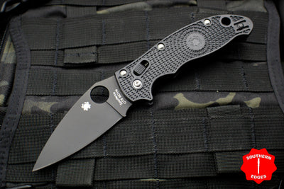 Spyderco Manix 2 Black FRN with Black CTS-BD1 Steel Folder C101PBBK2