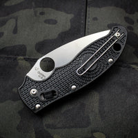 Spyderco Manix 2 Black FRN with Satin CTS-BD1 Steel Folder C101PBK2