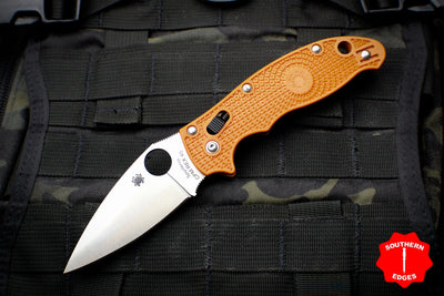 Spyderco Manix 2 Burnt Orange FRN with Satin CPM-REX 45 Steel Folder C101PBORE2