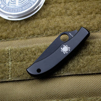Spyderco HoneyBee Slipjoint Black Stainless Steel Handle and Blade C137BKP