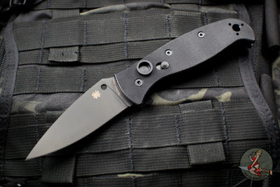 Spyderco Autonomy 2 Black G-10 Automatic Black LC200N Drop Point Blade C165GPBBK2