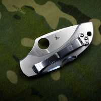 Spyderco Dragonfly Compact Folding Knife Stainless Steel Handles C28P