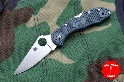 Spyderco Delica British Racing Green Handle Satin ZDP-189 Steel Lockback Knife C11PGRE