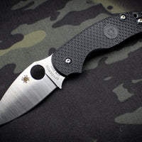 Spyderco Sage 5 Black with Satin CPM S30V Steel Folder C123PBK